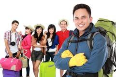 Путешествовать по всему миру с друзьями стоковая фотография rf