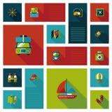 Путешествовать плоская предпосылка ui, eps10 Стоковые Фотографии RF