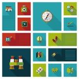Путешествовать плоская предпосылка ui, eps10 Стоковые Изображения RF