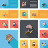 Путешествовать плоская предпосылка ui, eps10 Стоковые Изображения
