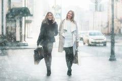 Путешествовать 2 друзей женщин Стоковые Фото