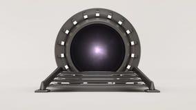 Путешествовать через космос и время 3d представляют бесплатная иллюстрация
