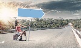 Путешествовать Autostop стоковое фото rf