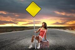 Путешествовать Autostop Стоковое Изображение