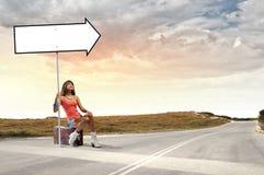 Путешествовать Autostop Стоковое Изображение RF