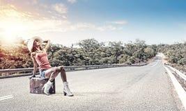 Путешествовать Autostop стоковая фотография