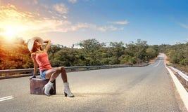 Путешествовать Autostop стоковые фотографии rf