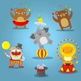 Путешествовать performan диких животных собрания значков шаржа цирка Стоковая Фотография