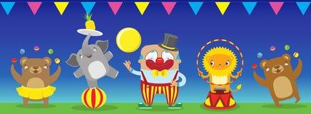 Путешествовать performan диких животных собрания значков шаржа цирка Стоковое фото RF
