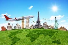 Путешествуйте концепция памятников мира Стоковая Фотография