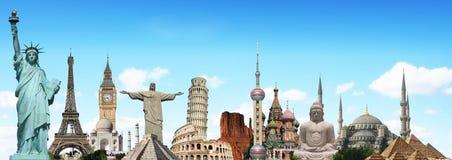 Путешествуйте концепция памятников мира Стоковое фото RF