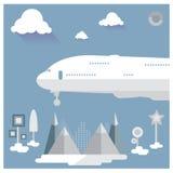 Путешествуйте vec концепции приключения чемодана каникул праздника готовое Стоковое Фото