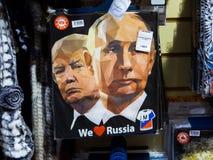 Путин и козырь стоковое фото