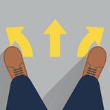 3 пути выбрать Стоковые Фотографии RF