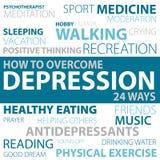 Пути как преодолевать депрессию Стоковые Фото