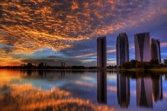 Путраджайя на взгляде захода солнца стоковая фотография rf