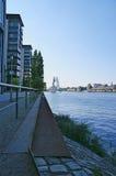 Путь берег реки Берлин Стоковое Фото