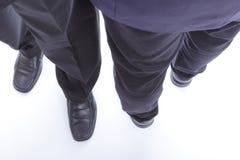 Путь бизнесмена идя перекрестный Стоковая Фотография RF