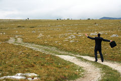 путь бизнесмена Стоковая Фотография