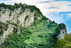 Путь богов Agerola Positano Nocelle Стоковые Фото