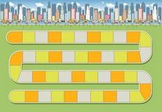 Путь блока в городе иллюстрация вектора