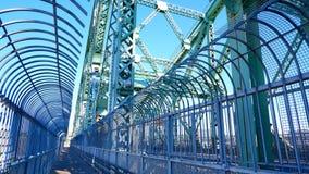 Путь велосипеда на мосте стоковые фотографии rf