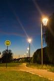 Путь велосипеда в парке вечера Стоковое Изображение