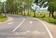 Путь велосипеда в парке Стоковая Фотография