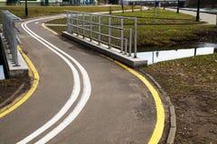 Путь велосипеда в парке Стоковая Фотография RF