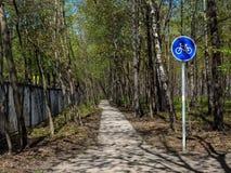 Путь велосипеда в парке Стоковые Фотографии RF