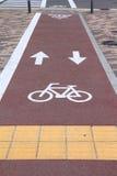 Путь велосипеда в Японии стоковая фотография rf
