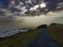 Путь водя к океану Forster Австралии стоковые изображения rf