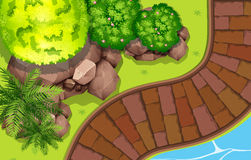 Путь вдоль реки бесплатная иллюстрация