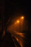 Путь в парке ночи Стоковое фото RF