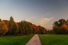 Путь в парке осени Стоковая Фотография RF