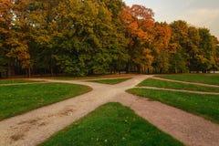 Путь в парке осени Стоковые Изображения RF