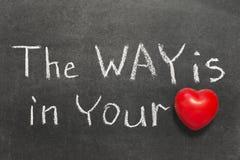 Путь в сердце Стоковое Фото