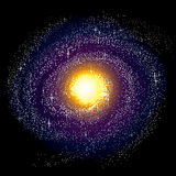 путь галактики milky спиральн Стоковое фото RF