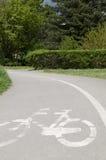 Путь города велосипеда Стоковые Изображения RF