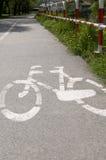 Путь города велосипеда Стоковые Изображения