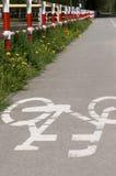 Путь города велосипеда Стоковое фото RF