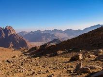 путь горы Синай Египета Стоковые Фотографии RF
