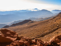 путь горы Синай Египета Стоковая Фотография RF