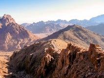 путь горы Синай Египета Стоковые Фото