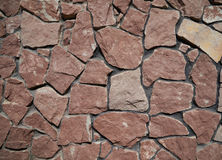 Путь гранита облицовывает краснокоричневую скачками форму Стоковые Изображения RF