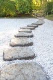 Путь Дзэн каменный стоковое изображение rf