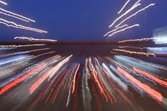 Путь долгой выдержки светов стоковые изображения