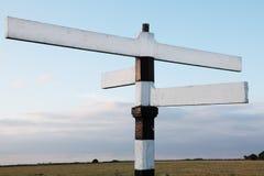 путь дорожного знака пробела 4 деревянный Стоковое Изображение RF