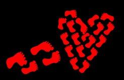 Путь до сердце полюбленное одного или полюбленное одно лежит иллюстрация штока