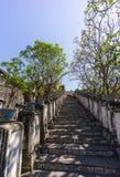 Путь лестницы к грандиозному дворцу Стоковое фото RF